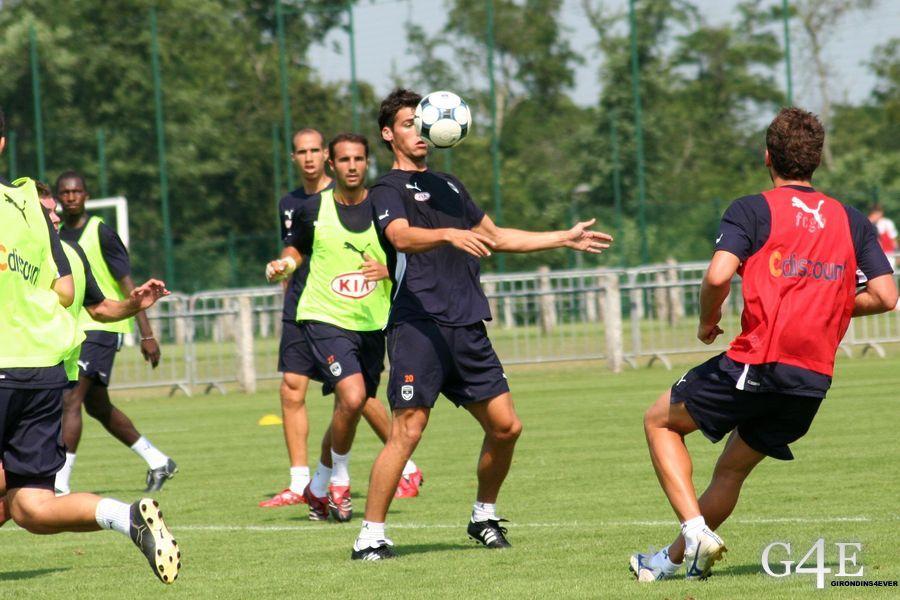 Controle Yoann Gourcuff Girondins de Bordeaux Entrainement
