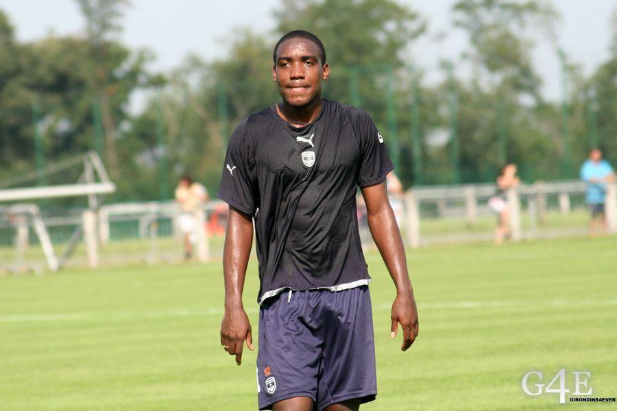 Edixon Perea entrainement Bordeaux sueur