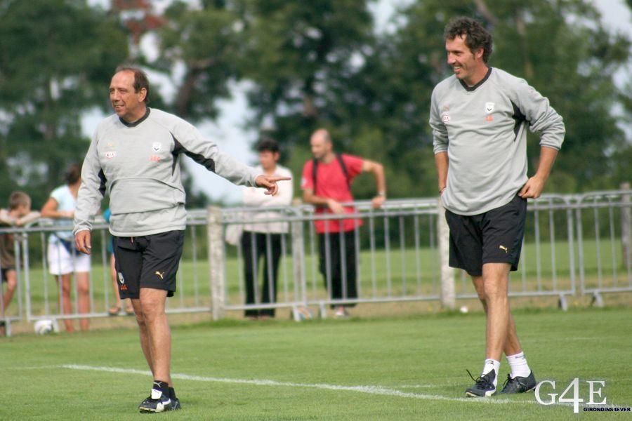 Jean Louis Gasset et Laurent Blanc Bordeaux