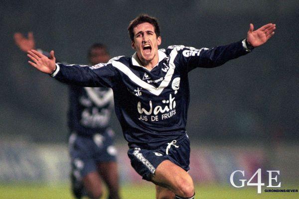 Joie Johan Micoud joueur Bordeaux