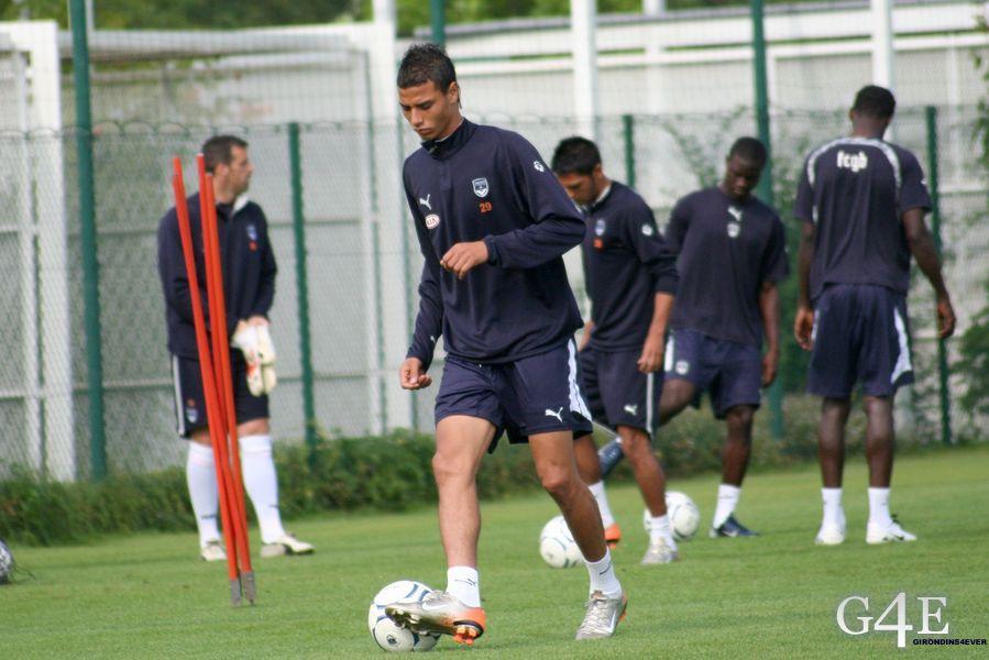 Marouane Chamakh entrainement Bordeaux seul