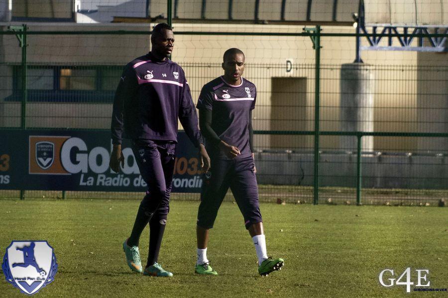 Diabaté et Maurice-Belay entrainement