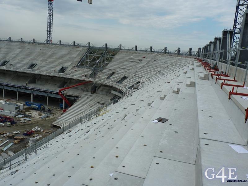 Chantier stade, vue latérale Nord-Est