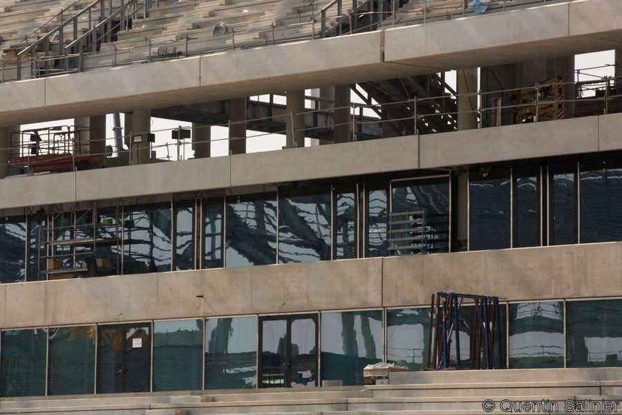 Chantier stade, coursive et loges
