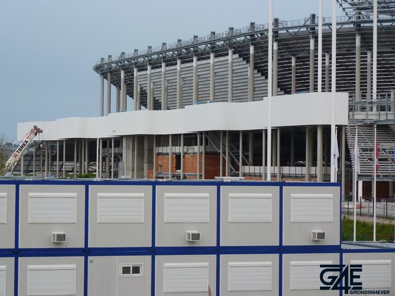 Chantier stade – Bardage tribune Nord