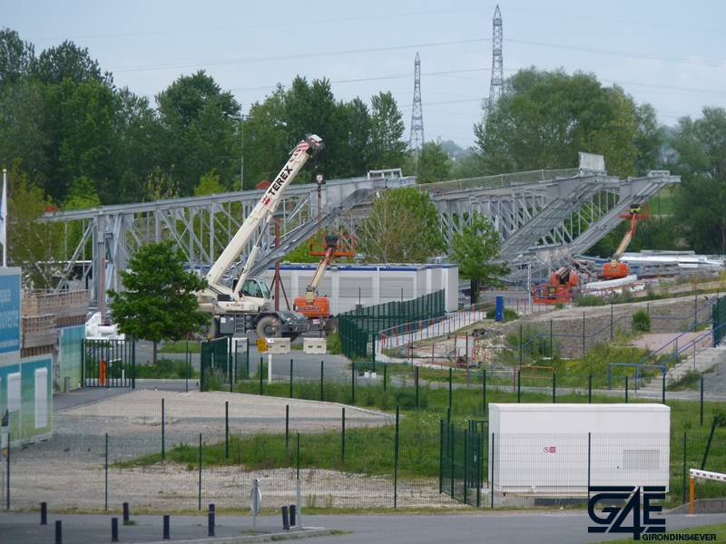 Chantier stade – Colis toiture tribune Nord
