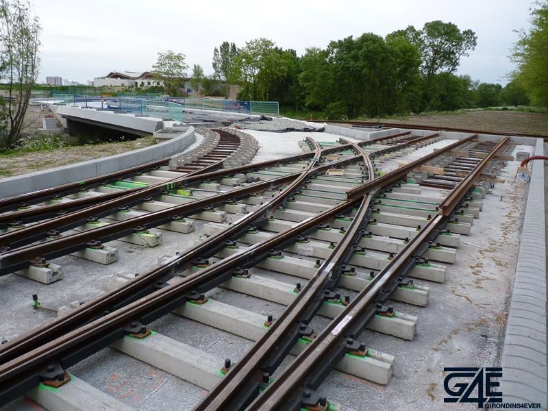 Chantier stade – Echangeur rails tramway vers gare