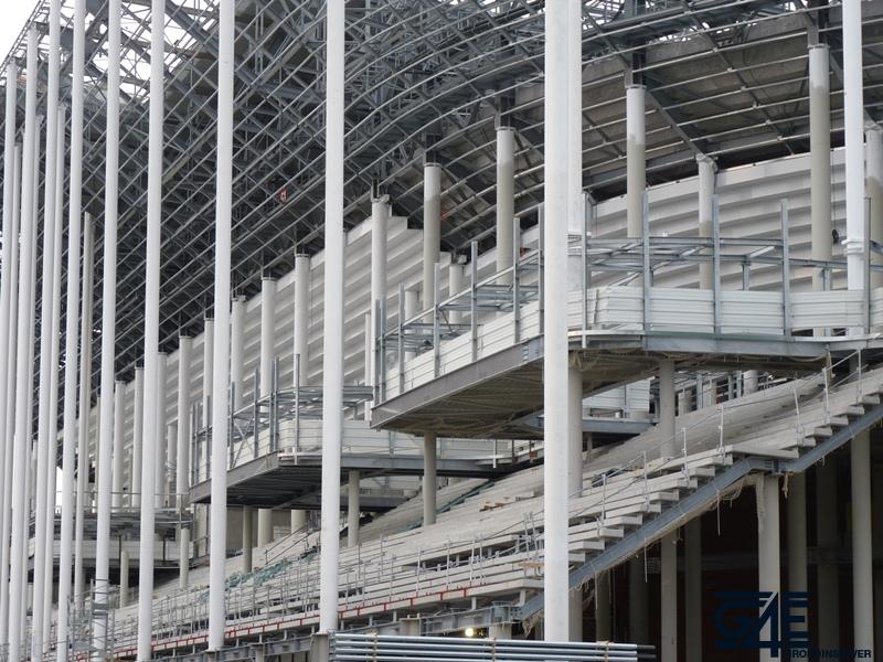 Chantier stade – Escaliers tribune ouest