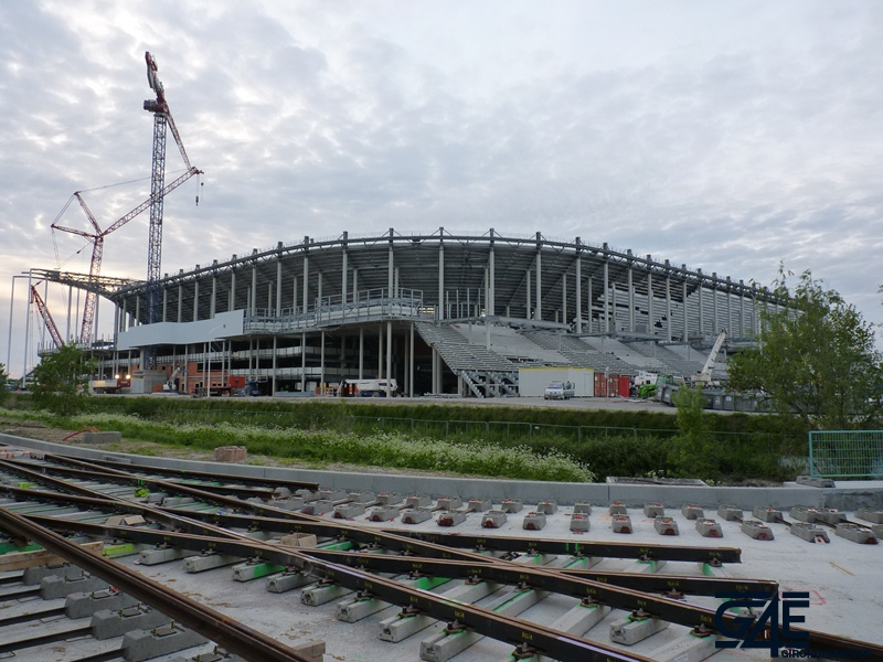 Chantier stade – Plan large tribune Sud-Est