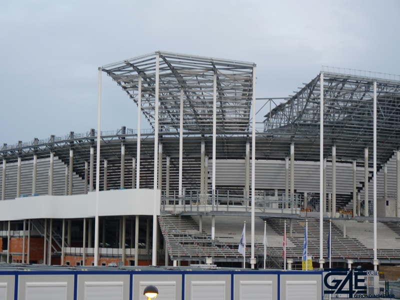 Chantier stade – Zoom toiture Nord-Ouest