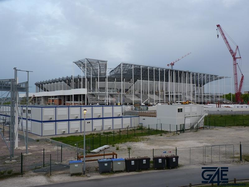 Chantier stade – plan large tribune latérale Nord-Ouest