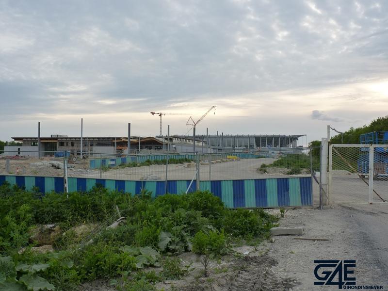 Chantier stade – vue Est avec gare tramway 2