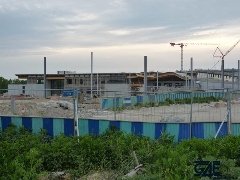 Chantier stade – vue Est avec gare tramway 3