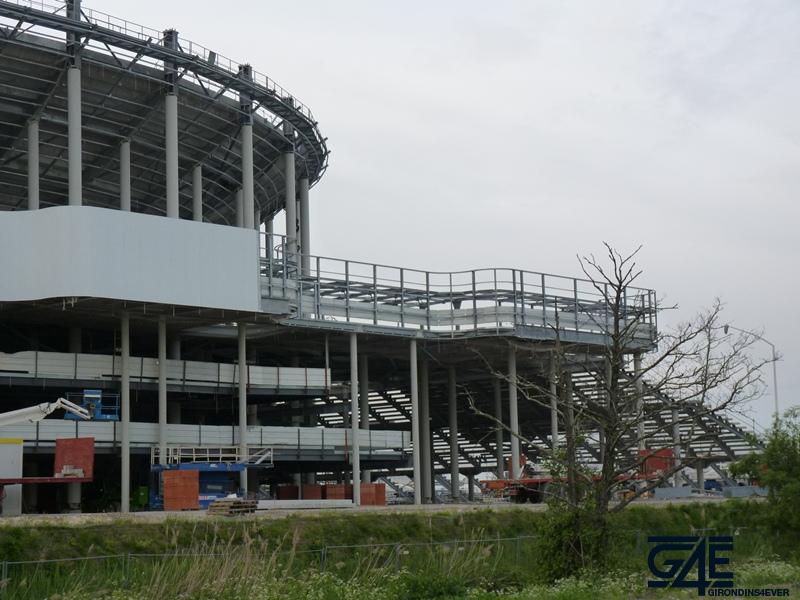 Chantier stade – vue Sud-Est