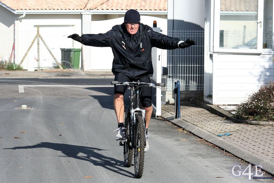 Eric Bédouet à vélo fun