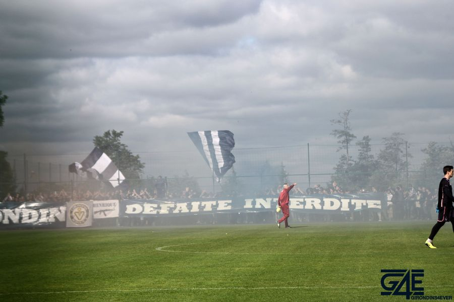Supporters Haillan avant Bordeaux-Marseille