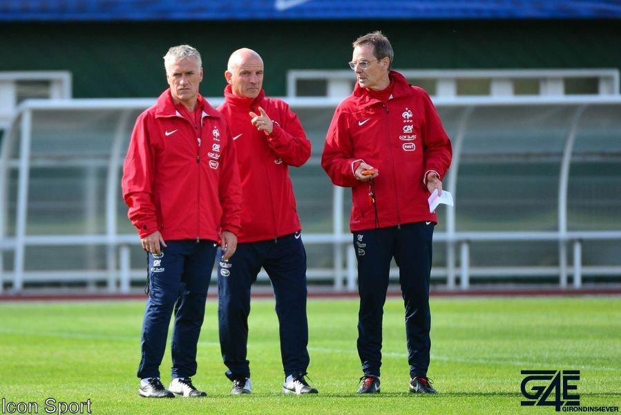 Didier Deschamps, Guy Stéphan et Eric Bédouet Icon Sport