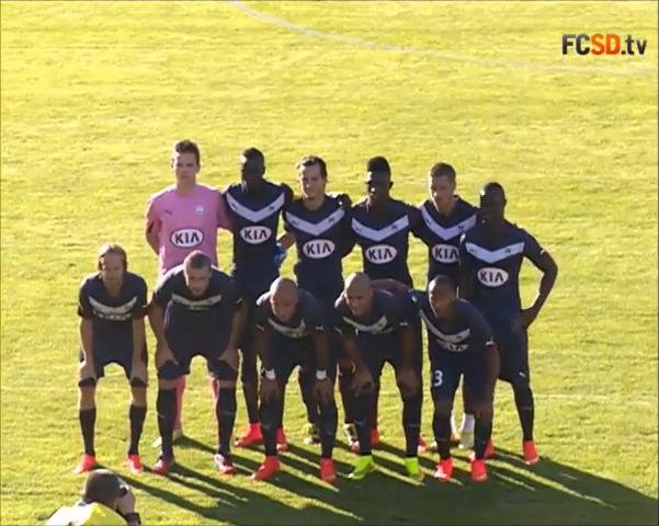 Equipe Bordeaux coup d'envoi amical
