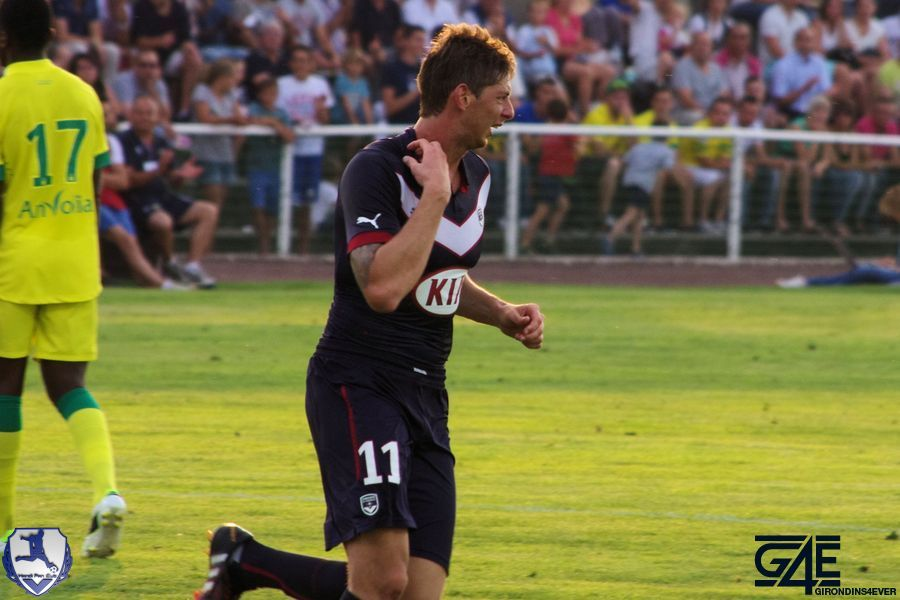 Sala après son but 2 Bordeaux-Nantes