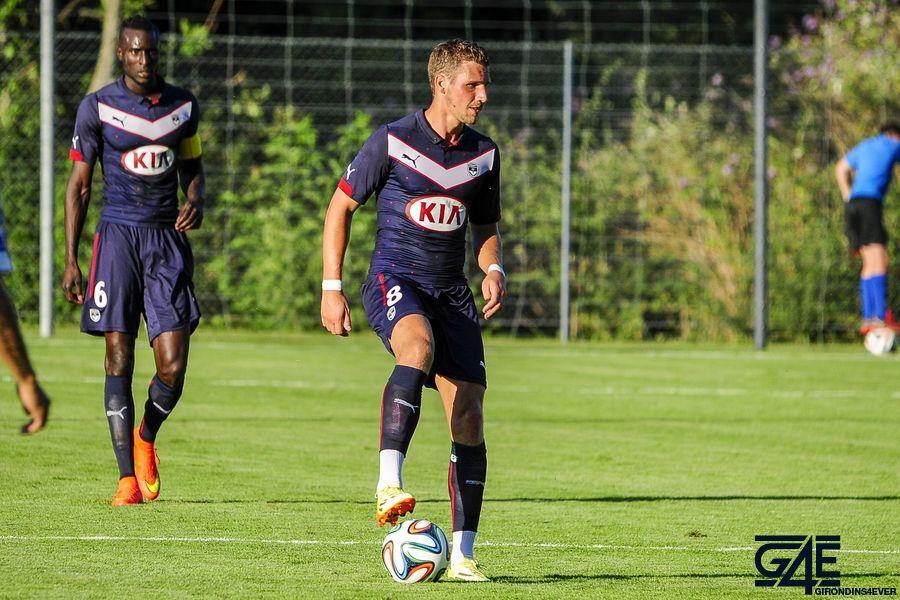 Gregory Sertic pied sur le ballon  Shakhtar-Bordeaux