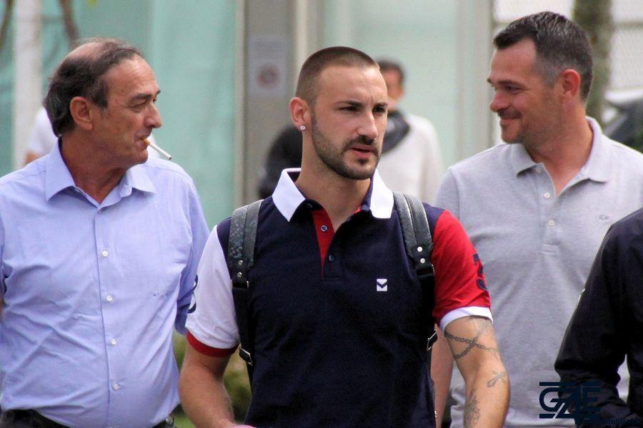 Diego Contento, Jean-Louis Triaud et Willy Sagnol