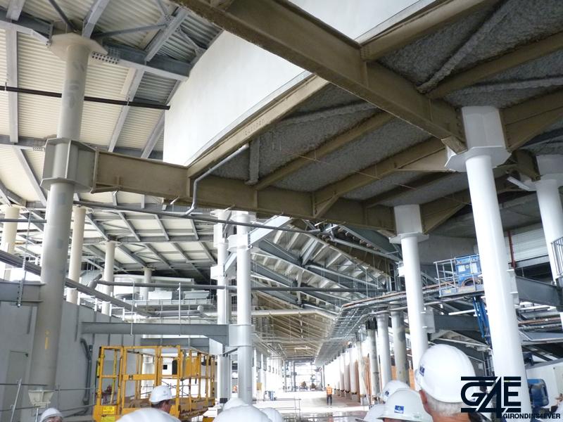 voie circulation sous tribune Nord nouveau stade