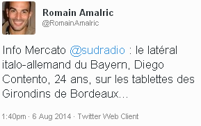 Sud Radio Contento tweet
