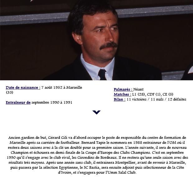 Entraineur – Gérard Gili