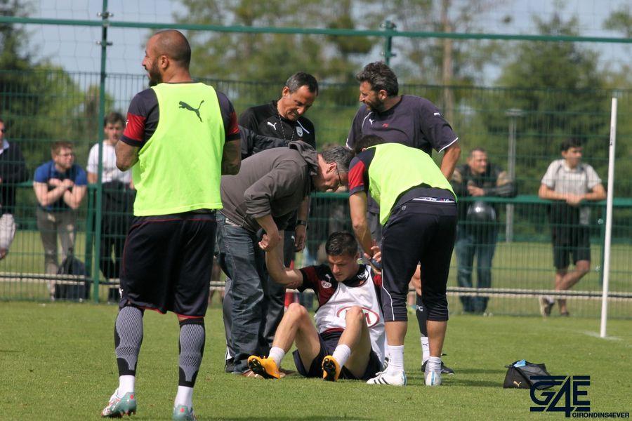 Frédéric Guilbert blessure genou