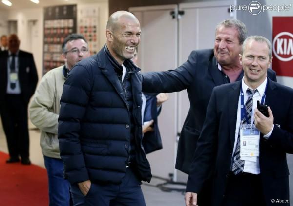 Zinedine Zidane et Rolland Courbis