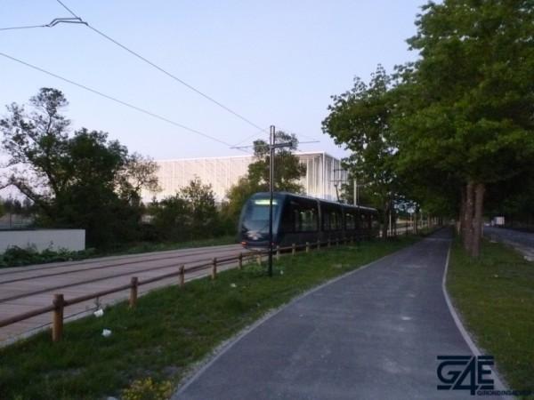 Nouveau stade Bordeaux tramway