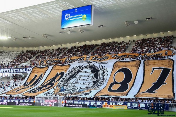 Supporters Bordeaux Virage Sud Stade Tifo