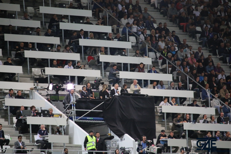 Equipe de France Stade Matmut Atlantique Presse Lizarazu