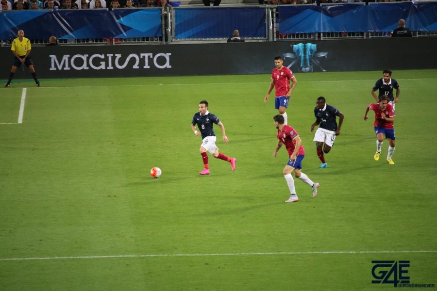 Equipe de France Stade Matmut Atlantique Valbuena