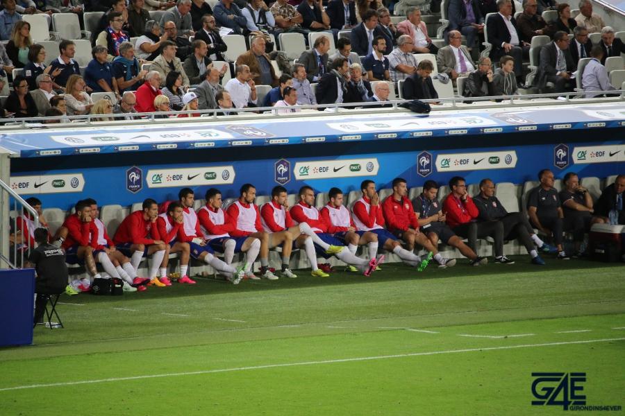 Equipe de France Stade Matmut Atlantique banc Serbie