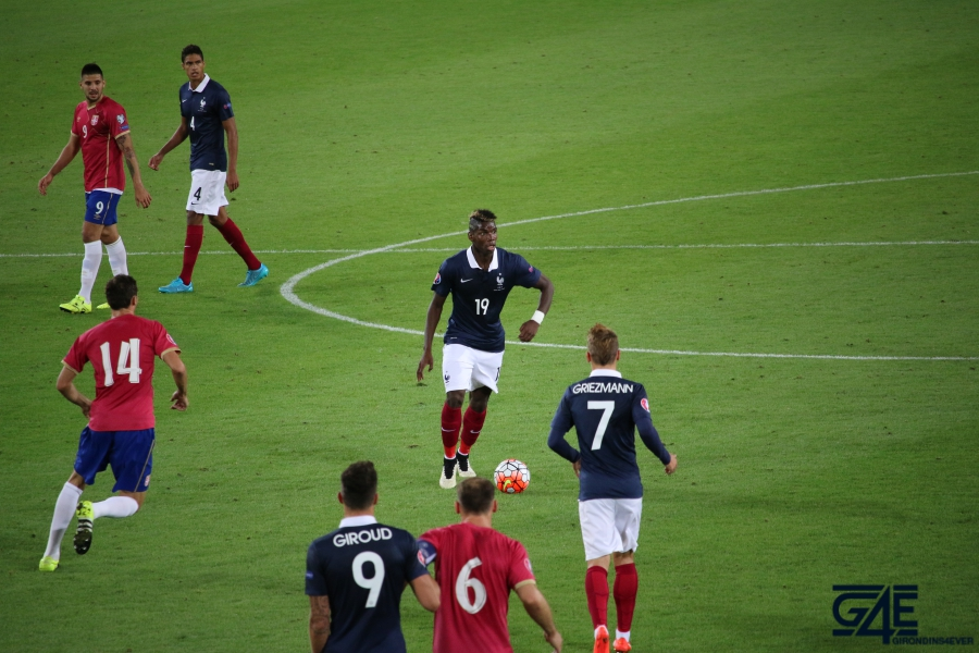 Equipe de France Stade Matmut Atlantique Paul Pogba