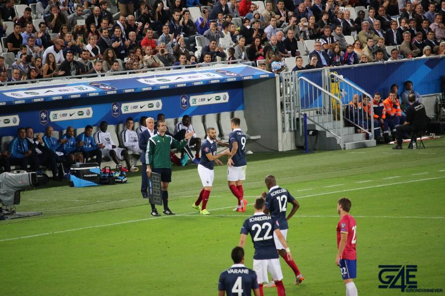 Equipe de France Benzema Giroud
