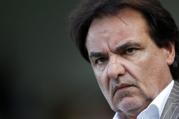 File picture shows FC Sion's President Christian Constantin during his team's Swiss Super League soccer match against FC Zurich (FCZ) in Sion, July 16, 2011. Celtic were reinstated to the Europa League September 2, 2011, after Swiss club Sion, who beat them in the playoffs, were kicked out of the competition after fielding ineligible players, UEFA said. REUTERS/Valentin Flauraud/File (SWITZERLAND - Tags: SPORT SOCCER HEADSHOT)