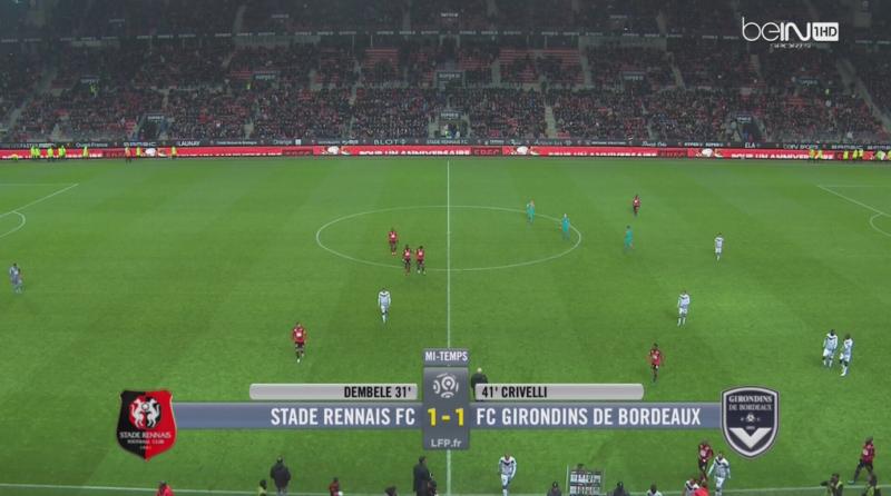 J14 Rennes Bordeaux mi-temps