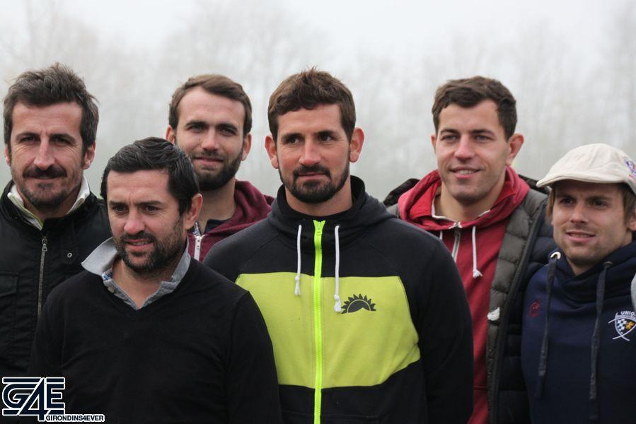 Johan Micoud, Bruno Da Rocha, Nicolas Sahnoun, Julien Rey, Yann Lesgourgues et Jean-Marcellin Buttin