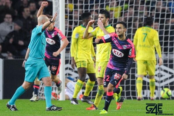 joie Bordeaux / Adam Ounas - 23.01.2016 - Nantes / Bordeaux - 22eme journee de Ligue 1 Photo : Andre Ferreira / Icon Sport