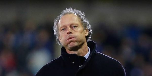 20131103 - BRUGGE, BELGIUM: Club's head coach Michel Preud'homme reacts during the Jupiler Pro League match between Club Brugge and Lokeren, in Brugge, Sunday 03 November 2013, on day 14 of the Belgian soccer championship. BELGA PHOTO BRUNO FAHY