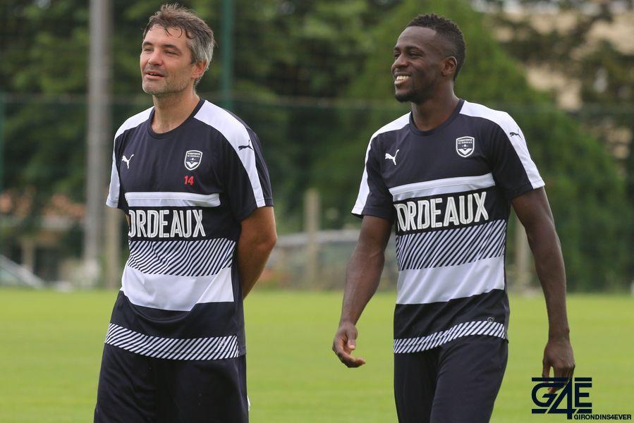 Jérémy Toulalan et Maxime Poundjé