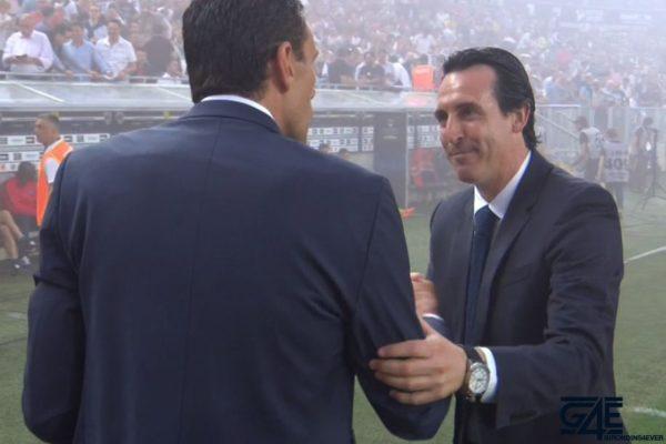 Unai Emery et Gustavo Poyet