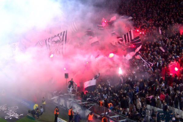 fumigenes supporters, virage sud, ultramarines, gallice