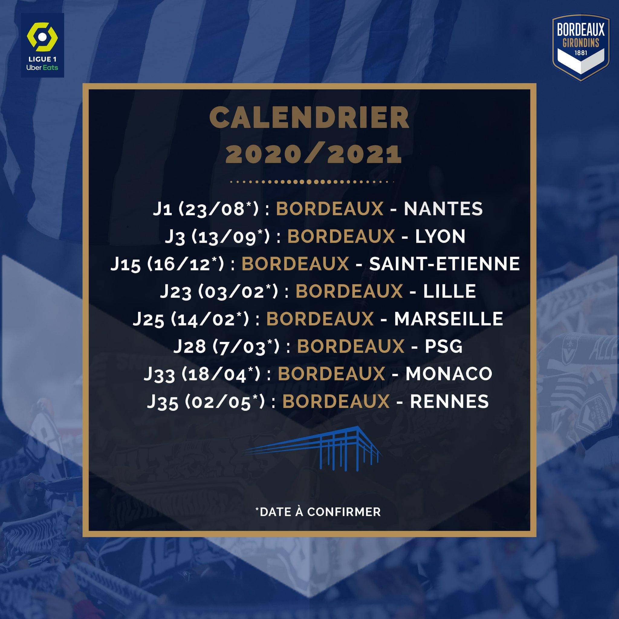 Girondins4Ever   Le calendrier complet des Girondins, pour la